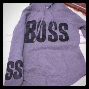 Gray boss hoodie